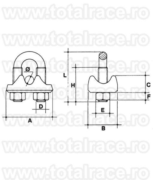 Bride cablu AISI 316 Articol 549